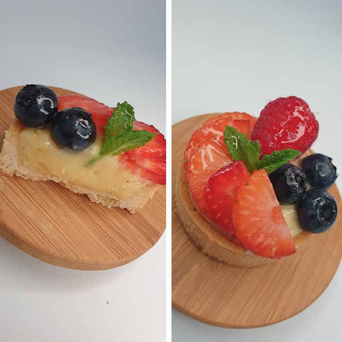 fruitige room tartelettes